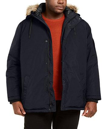 Мужская большая и высокая альтернативная куртка-пуховик с капюшоном из искусственного меха Calvin Klein
