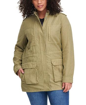 Модная хлопковая куртка-анорак с воротником-стойкой больших размеров Levi's®