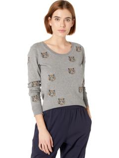 Хлопковый кашемировый пуловер с длинными рукавами и круглым вырезом Chaser