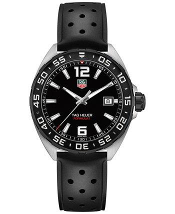 Мужские швейцарские часы Formula 1 с черным каучуковым ремешком 41 мм TAG Heuer