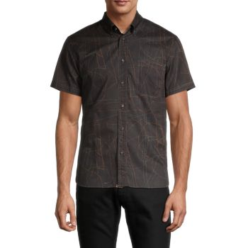 Tuscumbia Standard-Fit Print Shirt Billy Reid