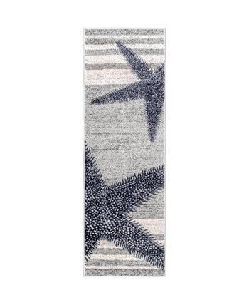 "Thomas Paul BDTP02A Gray 2'6"" x 10' Runner Rug NuLOOM"
