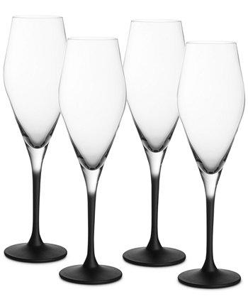 Manufacture Rock Champagne Flutes, Set of 4 Villeroy & Boch