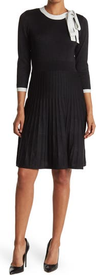 Платье-свитер с люрексом и завязками на воротнике Nanette nanette lepore