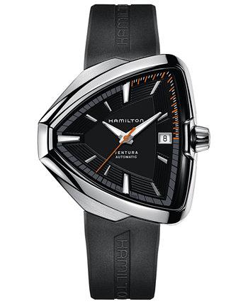 Мужские швейцарские автоматические часы Ventura Elvis80 с черным резиновым ремешком, 44,6 мм Hamilton