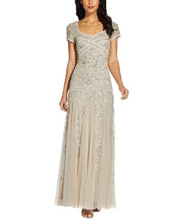 Платье Годе с украшением Adrianna Papell