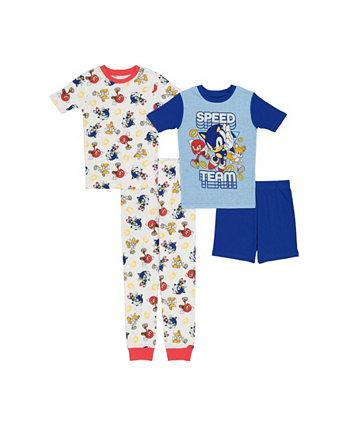 Хлопковая пижама из 4 предметов Little Boys Sonic