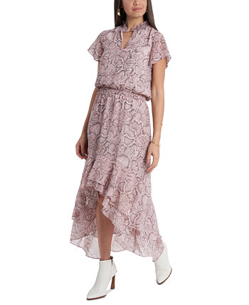 Floral-Print High-Low Dress 1.STATE