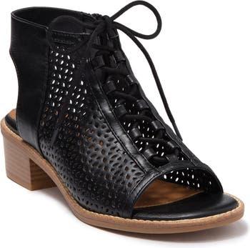 Босоножки на блочном каблуке с перфорированной шнуровкой Bliss EuroSoft
