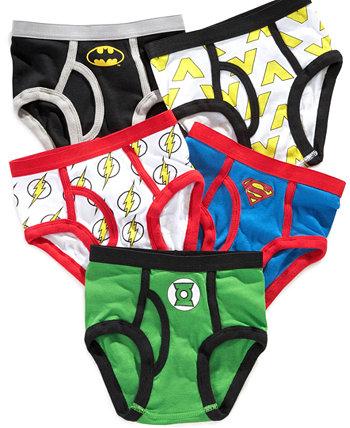 Лига Справедливости 5-рк. Хлопковые Трусы, Маленькие Мальчики & Большие Мальчики DC Comics