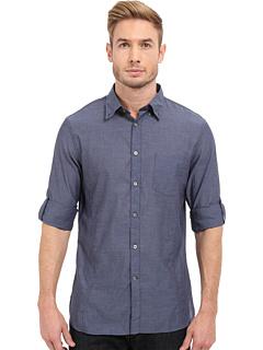 Рубашка с закатанными рукавами и воротником на пуговицах John Varvatos Star U.S.A.