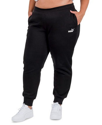 Однотонные флисовые брюки-джоггеры больших размеров PUMA