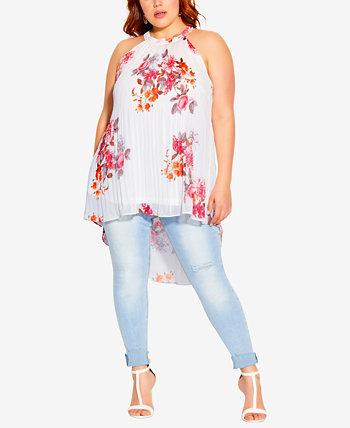 Trendy Plus Size Floral Crush Top City Chic