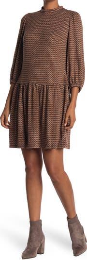 Тканое платье с воротником-стойкой Sandra Darren