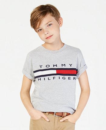 Хлопковая футболка с графическим принтом, Big Boys Tommy Hilfiger