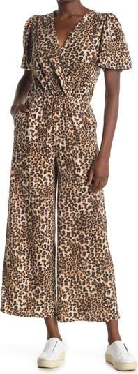 Комбинезон с леопардовым принтом и вырезом на шее 19 Cooper