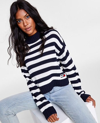 Полосатый свитер с воротником-стойкой Tommy Jeans