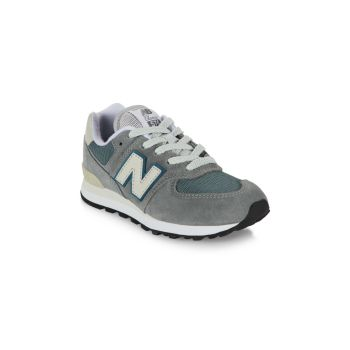 Kid's New Balance 574 Suede Mix Media Low-Top Sneakers New Balance