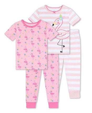 Одежда для сна с фламинго для маленьких девочек, комплект из 4 предметов Koala baby