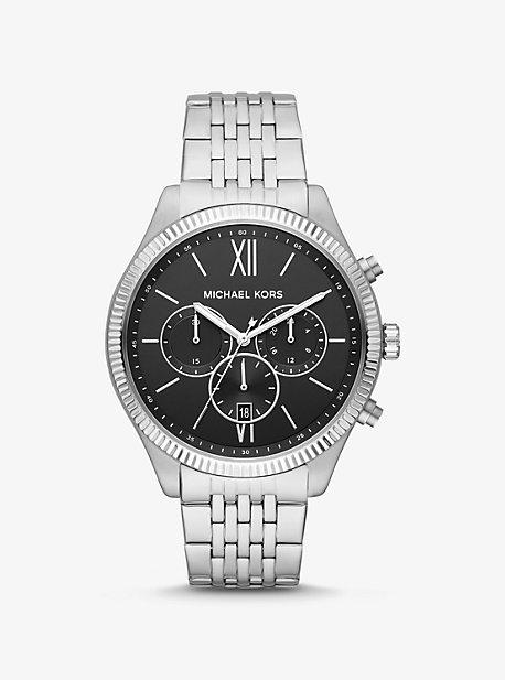 Крупногабаритные часы Benning в серебристом цвете Michael Kors