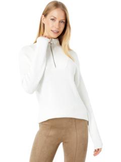 1/2 Zip Sweater with Stitching Details Elliott Lauren