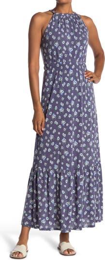 Макси-платье без рукавов с цветочным принтом и вырезом на шее Collective Concepts