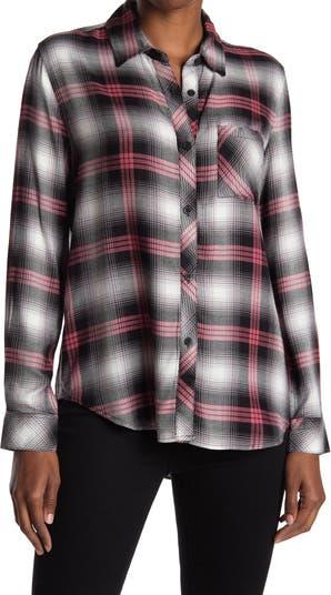 Рубашка-туника с пуговицами спереди в клетку, высокая / низкая Workshop