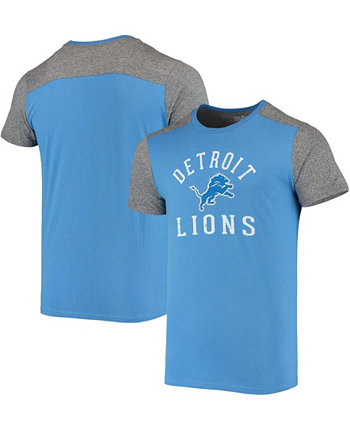 Men's Blue, Gray Detroit Lions Field Goal Slub T-shirt Majestic