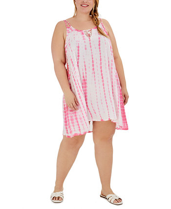 Платье большого размера с принтом тай-дай, накидка для плавания Raviya