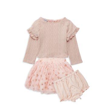 Топ из трех частей, юбка из фатина и юбка для маленьких девочек; Комплект шароваров Pippa & Julie