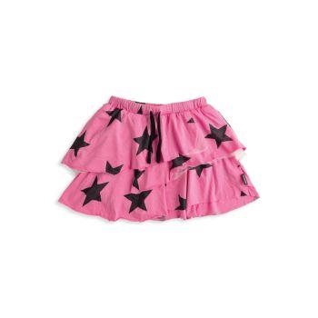 Маленькая девочка & amp; Многослойная юбка со звездами Nununu