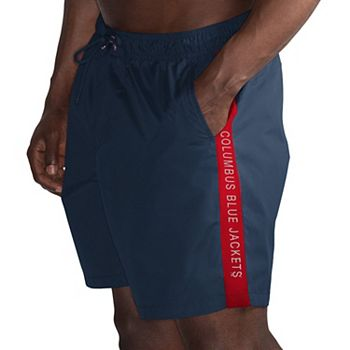 Men's G-III Sports by Carl Banks Navy/Red Columbus Blue Jackets Volley Swim Shorts G-III