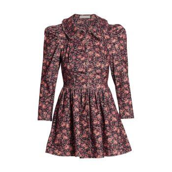 Вельветовое мини-платье Beyers LOVESHACKFANCY