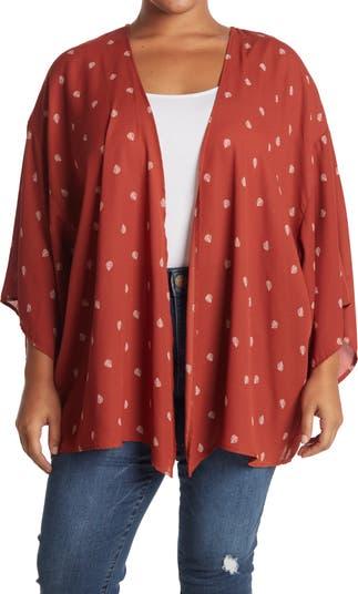 Ditsy Floral Kimono SOCIALITE CURVE
