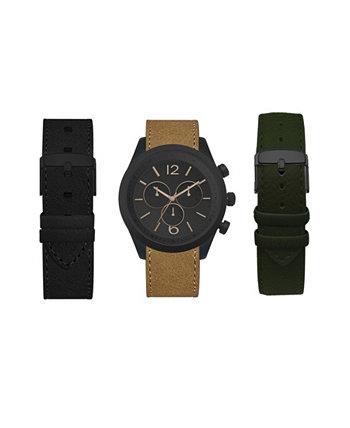 Мужские сменные часы с ремешком 45мм Подарочный набор American Exchange