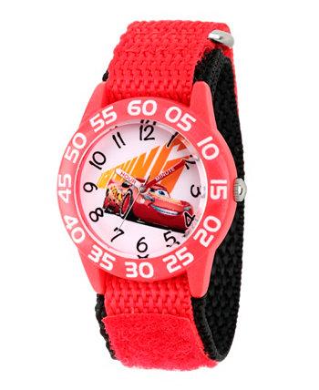 Дисней Cars 3 Lightning McQueen Boys 'Красные Пластмассовые Часы Учителя Времени Ewatchfactory