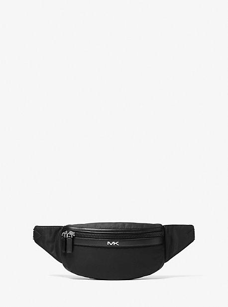 Поясная сумка из нейлонового габардина с тесьмой с логотипом Kent Michael Kors
