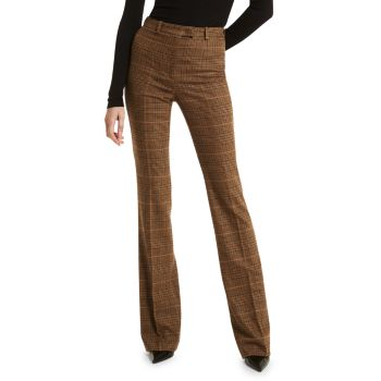 Check Split-Back Bootcut Trousers MICHAEL KORS COLLECTION