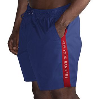 Men's G-III Sports by Carl Banks Blue/Red New York Rangers Volley Swim Shorts G-III