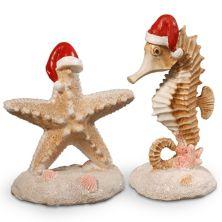 National Tree Company Seahorse & Starfish Table Christmas Decor 2-piece Set  National Tree Company