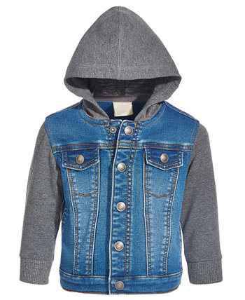 Baby Boys Hooded Denim Jacket, Created for Macy's First Impressions