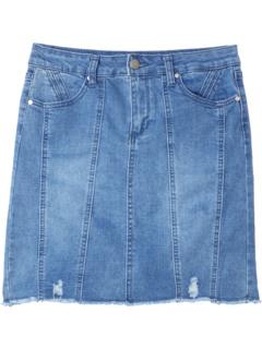 The Moto Skirt in Stream Blue (Little Kids/Big Kids) Joe's Jeans Kids