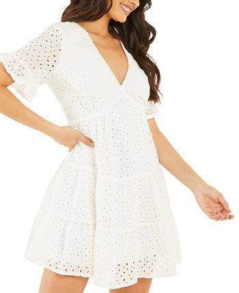 Многослойное платье с прорезями Quiz