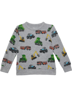 Вязаный пуловер с круглым вырезом и длинными рукавами из переработанного материала RPET (для маленьких и больших детей) Chaser Kids