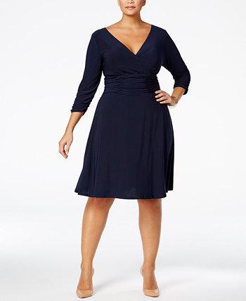 Платье трапециевидной формы со сборками больших размеров NY Collection