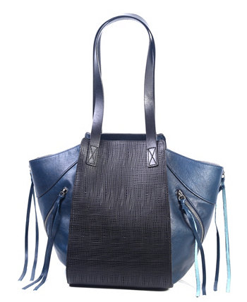 Кожаная сумка-тоут в практичном стиле Old Trend
