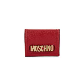 Текстурированный кожаный бумажник двойного сложения Moschino