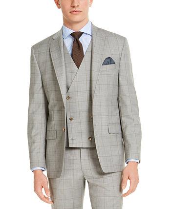 Мужская классическая куртка UltraFlex Stretch Grey Windowpane Ralph Lauren