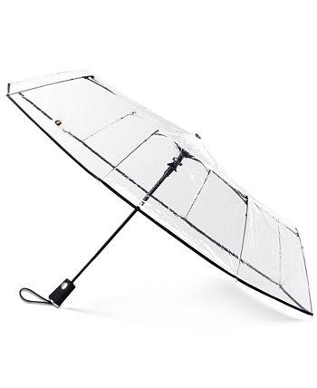 3-х секционный автооткрытый прозрачный зонт Totes