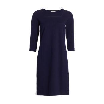 Платье-футляр с полосками по бокам Petite Joan Vass